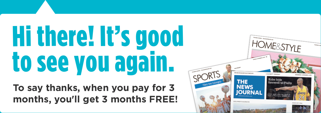 Hi there! It's good to see you again. To say thanks, when you pay for 3 months, you'll get 3 months FREE!